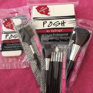 Cosmetic brushes beauty bundle